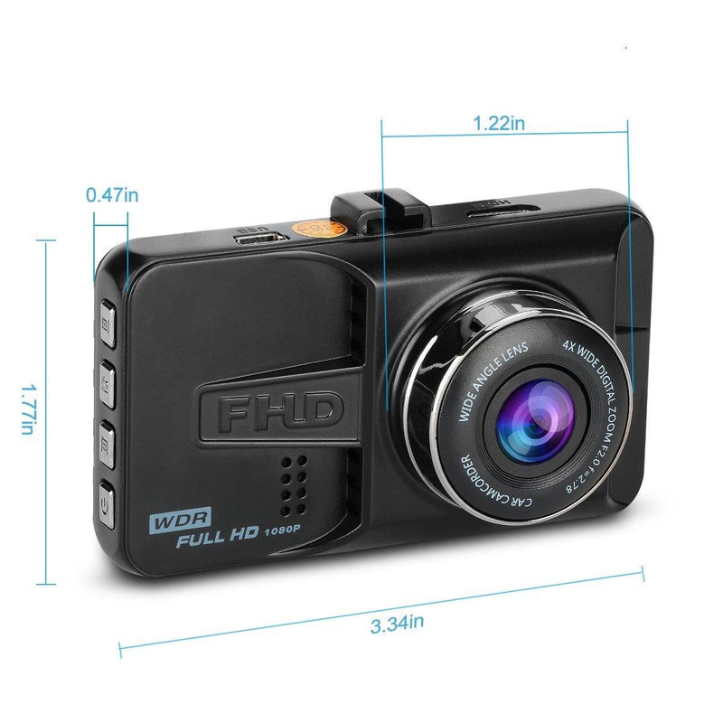 ULU Car Dash Cam Full HD 1080P (Black) (SD Card Not Included)