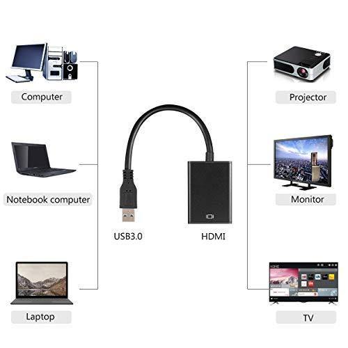 USB 3.0 to HDMI Video Adapter Full HD 1080P Converter - (Black)