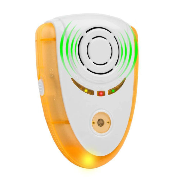 Ultrasonic Pest Control Electronic Plug In Pest Repeller Indoor Pest Repellent (Orange)