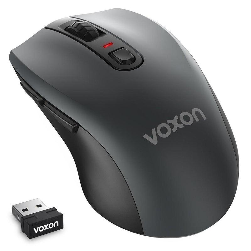 VOXON Ergonomic 2.4G Wireless Mouse Optical Mobile Mice, Nano Receiver Model:WM-070 1 (Black)