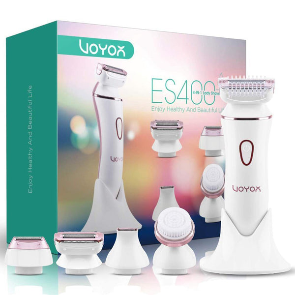 VOYOR ES400 4 in 1 Electric Lady Shaver Set [White]