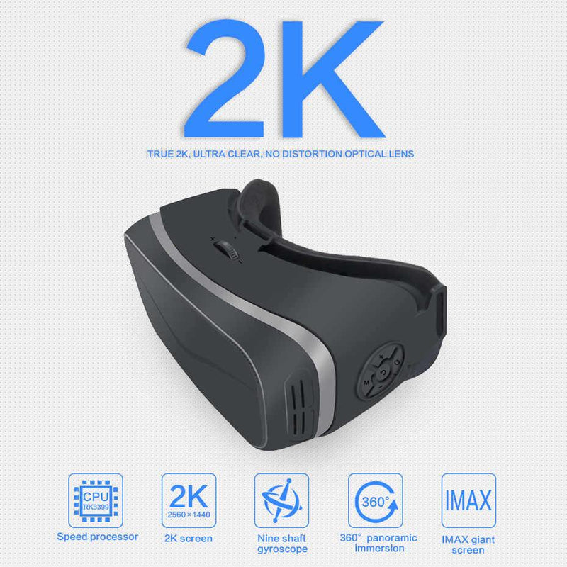 Nibiru 2K Virtual Reality Integrated Headset All In One VR Involving Headset Android 6.0 (Black)