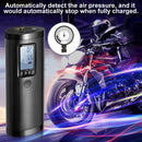 Vastar Portable Air Compressor, 100PSI / 2000mAh Lithium Battery Mobile Air Pump Tyre Inflator, Air Pressure Detection and Automatic Stop Inflation - Model: AP2 - (Black)