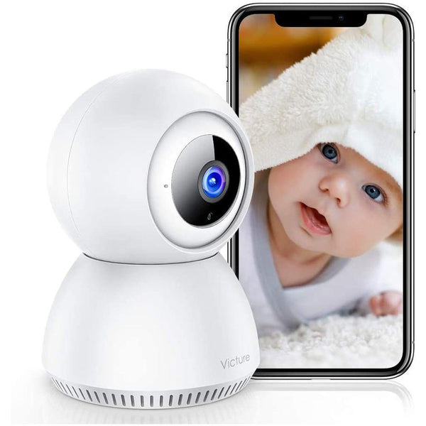 Victure SC210 1080P Wireless Security Wi-Fi Indoor Camera  Two-Way Audio, Night Vision [White] - DealsnLots