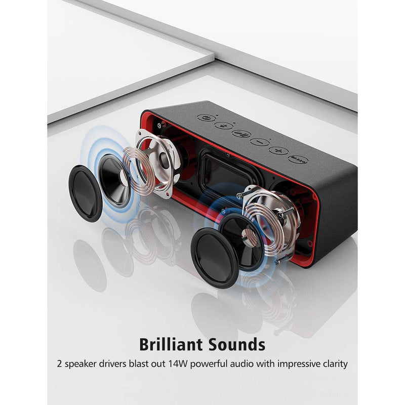 Vtin Ultra Portable Waterproof Bluetooth Speaker- Model: BH172A (Black)