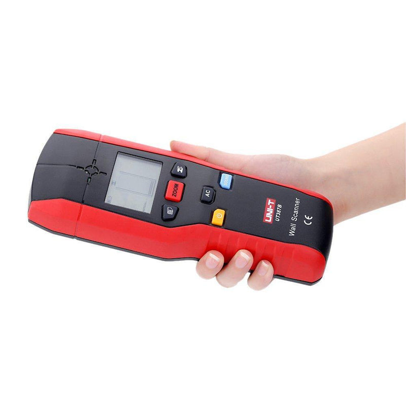 Wall Detector Multifunctional Handheld AC Cable Finder Scanner Model:UNI-T UT387B (Red-Black)