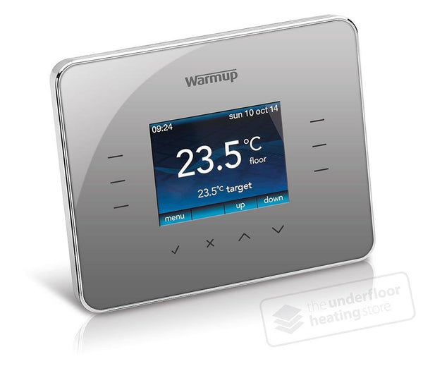 Warmup 3iE Thermostat - Silver Grey