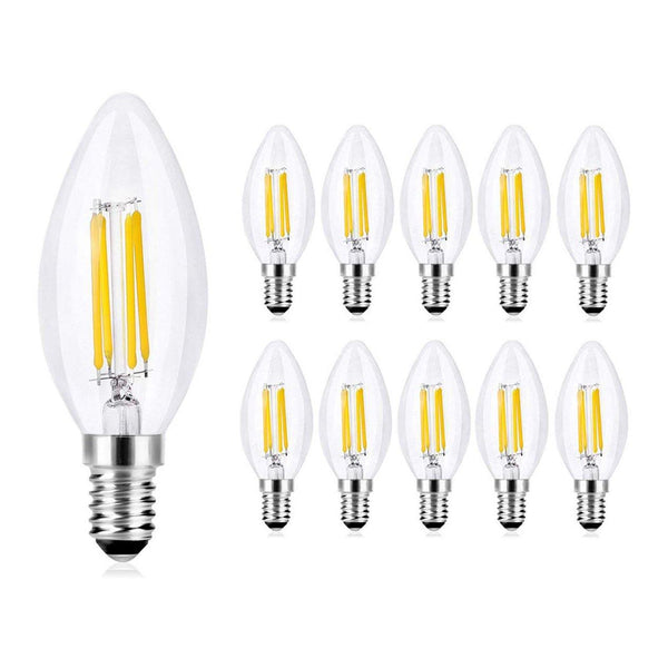 Wedna LED Candle Bulb Pack of 10 - (4W E14) - (Warm White)