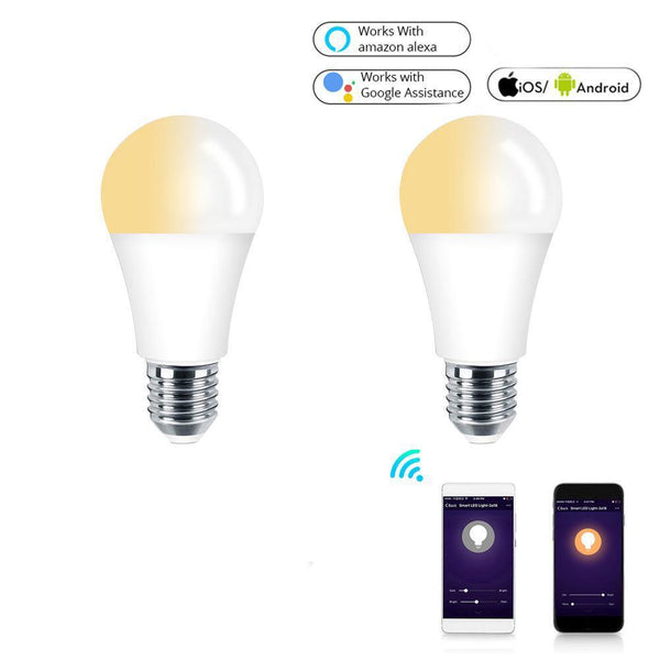 WiFi Smart Light Bulb LED Lamp 7W (Cool Warm White + RGBW) - (E27)