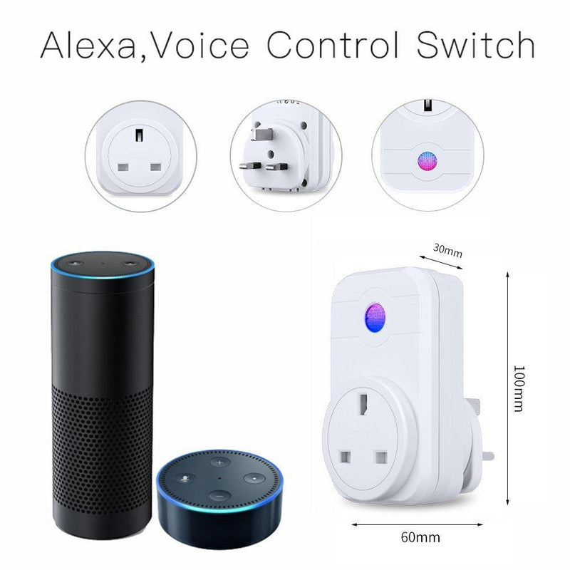 WiFi Smart Plug Alexa Google Home Remote Control Plug Model: SWA1 (White)