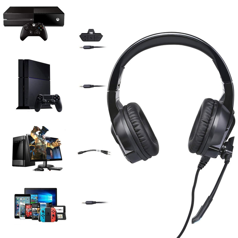Cehensy Wired Gaming Headset with Mic Model:A3 (Black)