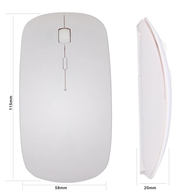 Hi-azul Full-sized 2.4GHz Wireless Keyboard & Mouse Combo - (White)