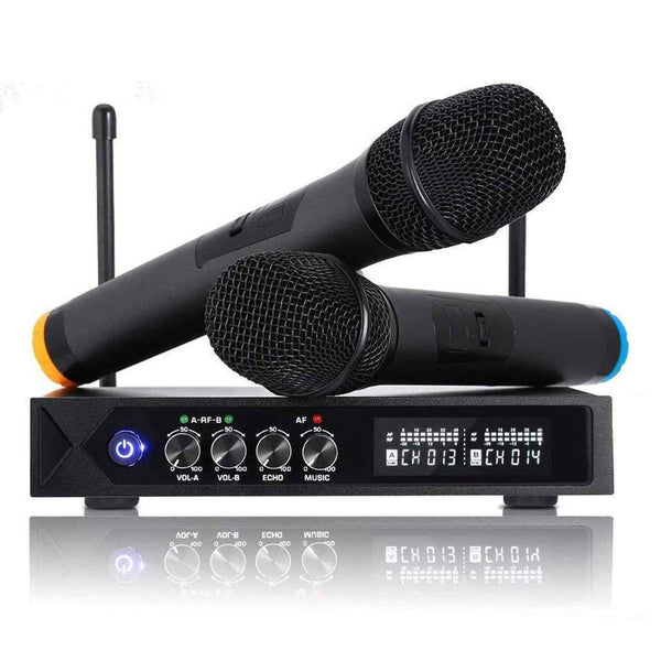 Wireless Microphone System Bluetooth 4.1 Mic, S9 UHF Cordless Microphone (Black) - DealsnLots