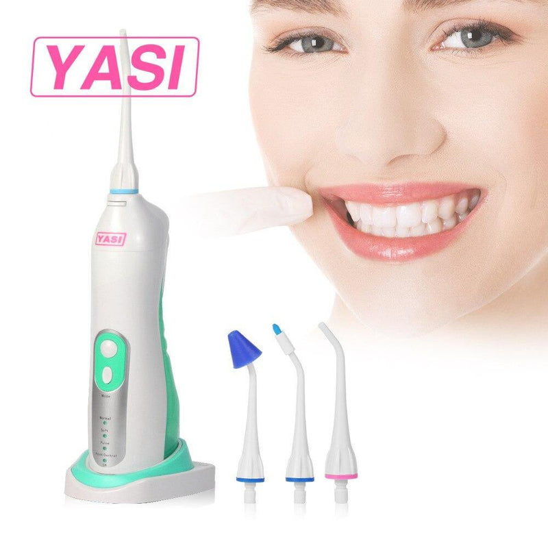YASI Oral Irrigator Rechargeable Water Flosser Irrigation Model: YS831 (White-Green)