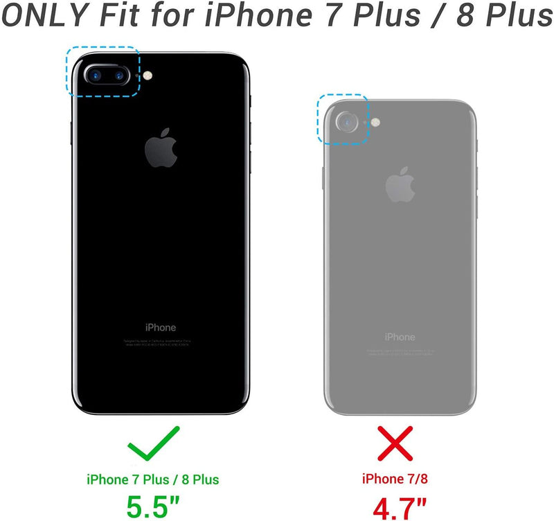 YOUMAKER Full Body with Built-in Screen Protector, Heavy Duty, Shockproof And Slim Fit  Case for iPhone 8 Plus & iPhone 7 Plus,