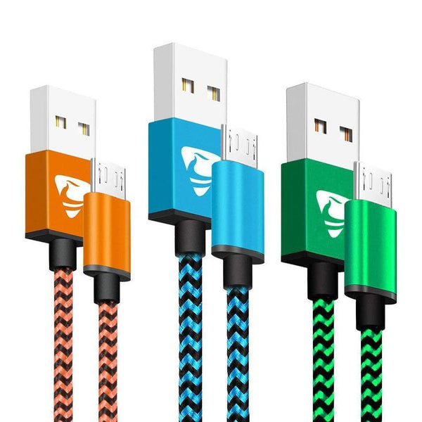 Yosou Nylon Braided Android Fast Charging Micro USB Cable - (1M) - (3Pack)