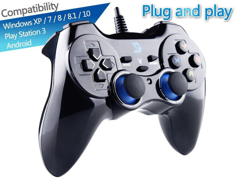 ZD-V+ USB Wired Gaming Controller Gamepad-(Black)