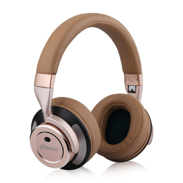 Zinsoko Headphone Active Noise Cancelling Wireless Bluetooth Model:Z-H01(Rose Gold)