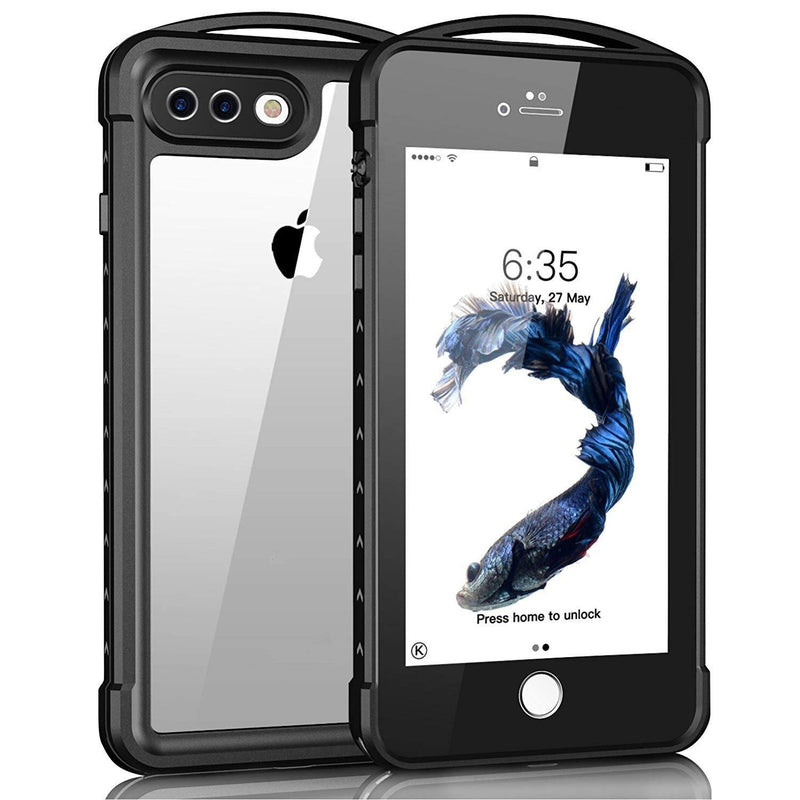iPhone 7 Plus-8 Plus Waterproof Case-(Black)