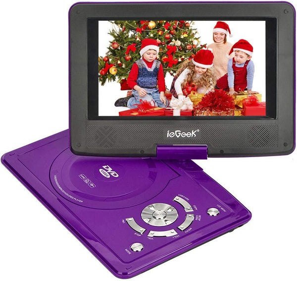 ieGeek 9.5 Screen Portable DVD Player (NS-108) (Purple)