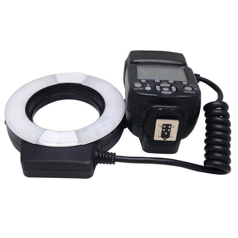 Mcoplus 14EXT-C 5500K Macro TTL Ring Flash Lite with LED (Black)