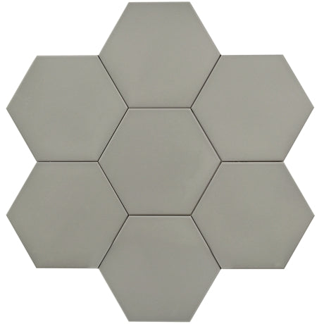 "Hexagon Series 10"" Grey Matte  *$7.30/ft*"