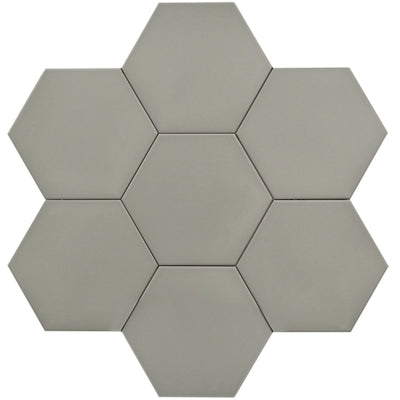 "Hexagon Series 10"" Dark Grey Matte  *$7.30/ft*"