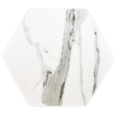 "Hexagon Series 10"" White Marble Look Polished  *$7.30/ft*"