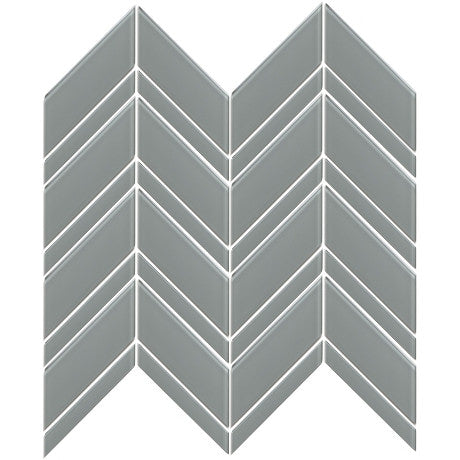 Glass Chevron Grey - Pendulum TILE