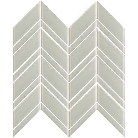 Glass Chevron Light Grey - Pendulum TILE
