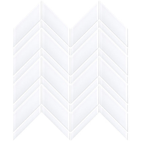 Glass Chevron White - Pendulum TILE