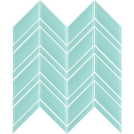 Glass Chevron Blue - Pendulum TILE