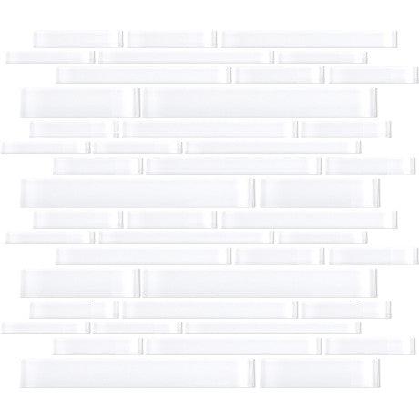 Glass Random Strips White - Pendulum TILE