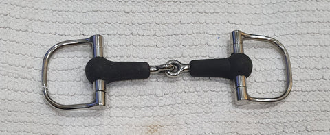 "4.5"" D ring rubber single jointed snaffle  NEW (DRS45)"