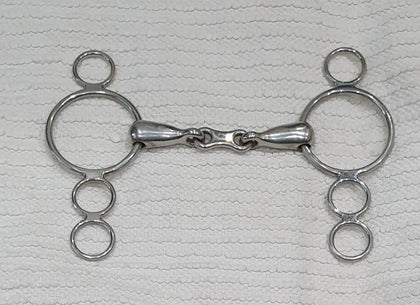 "1 5"" 3 Ring Dutch / Continental Gag Bit, Single Jointed (0532)"