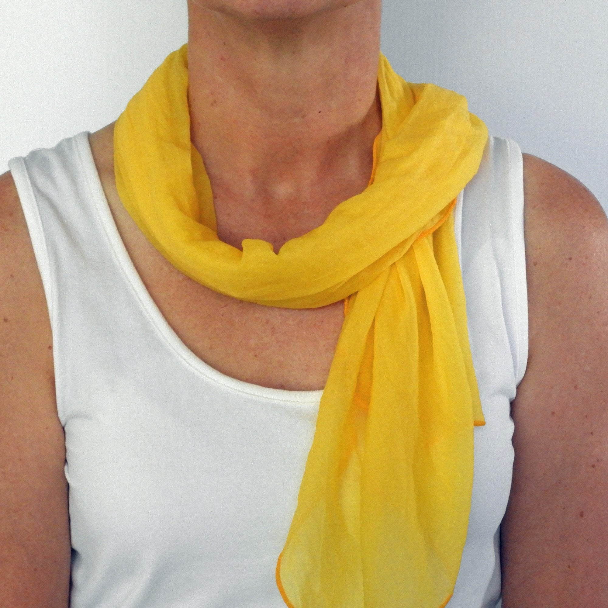 daffodil yellow neck-scarf