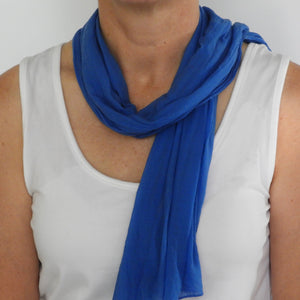 cornflower blue neck scarf