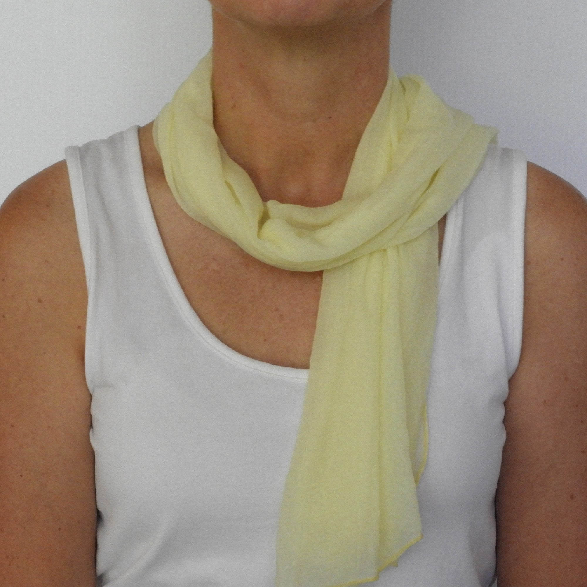 cream neck-scarf