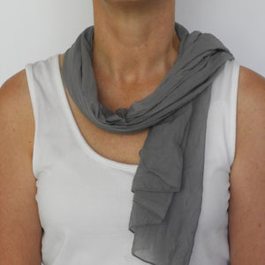 slate grey neck scarf