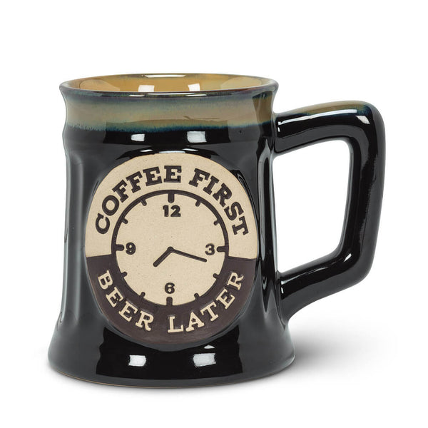"Large ""Coffee First"" Tankard Mug"