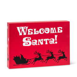 "Rectangle ""Welcome Santa"" Block"