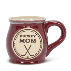 "Large ""Hockey Mom"" Belly Mug"