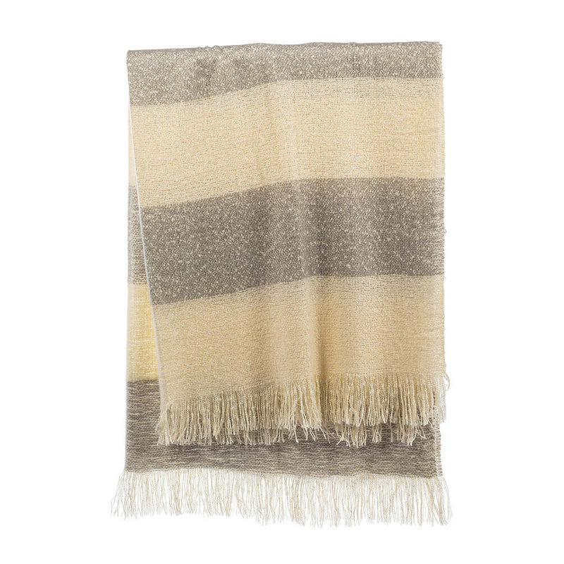 Striped Fuzzy Throw