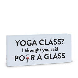 "Rectangle ""Yoga Class?"" Block"