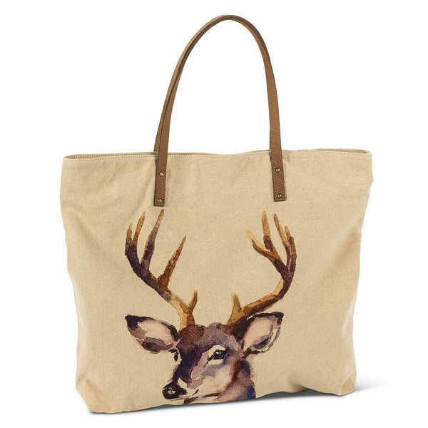 Large Stag Head Tote Bag