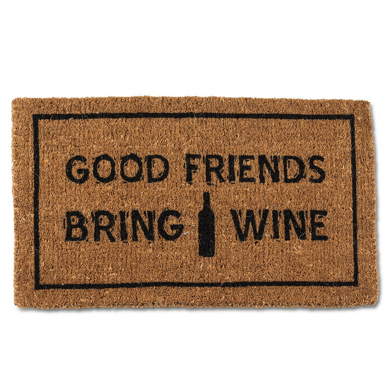 Good Friends Bring Good Wine Doormat