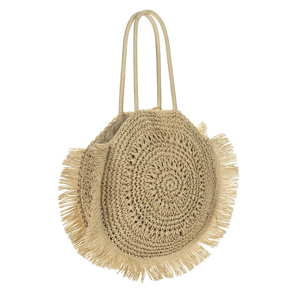 Round Crochet Tote Bag