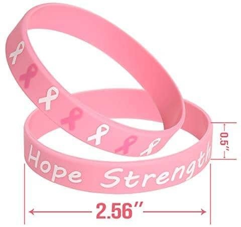 Breast Cancer Awareness Pink Ribbon Bracelets