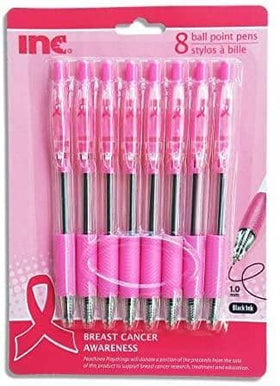 8 Ball Point Breast Cancer Awareness Pens Pink Cancer (Black Inc)