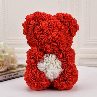 Rose Flower Bear Valentine Gifts Red